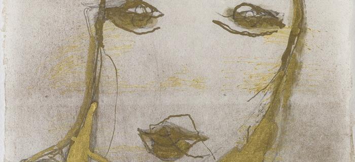 Marisa Merz (1926-2019)  Sans titre, s.d.  Matériaux mixtes sur papier de riz, 45,5 x 32,5 cm  Collection privée, courtoisie Saint-Honoré Art Consulting