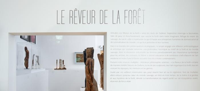 Le Rêveur de la forêt, sept 19 - fév 20, musée Zadkine, Paris, photo R. Chipault