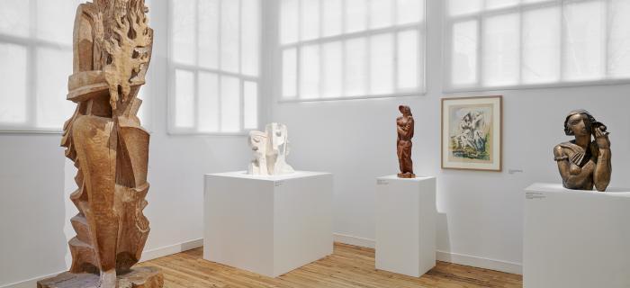 Vue du nouvel accrochage, musée Zadkine, Paris Copyright photo : Pierre Antoine